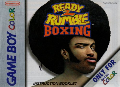 Ready 2 Rumble Boxing GBC Instruction Booklet (Game Boy Color Manual Only - NO GAME) (Nintendo Game Boy Color Manual)