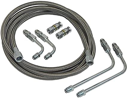 Terrific Amazon Com Stainless Braided Transmission Cooler Flex Hose Line Set Wiring Digital Resources Timewpwclawcorpcom