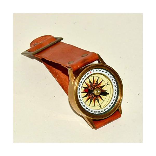 Antique Steampunk Wrist Brass Compass & Sundial-Watch Type Sundial@ 3