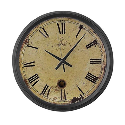 "CafePress - Antique Style Vintage, Large 17"" Round Wall Clock, Unique Decorative Clock"