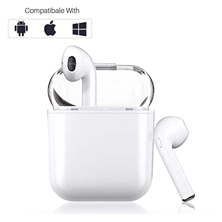 Bluetooth Headphones 5.0,Wireless Earbuds with Graphene-Enhanced Driver s, 3D Stereo Surround Sound, IPX5 binaural Call,for iPhone airpod airpods Android Apple Sports Headphones