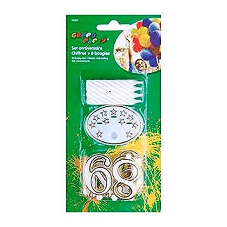 Set cumpleaños números + velas: Amazon.es: Hogar