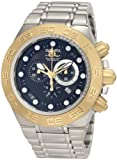Invicta Men's 1528 Subaqua Sport Chronograph Black Dial Stainless Steel Watch, Watch Central