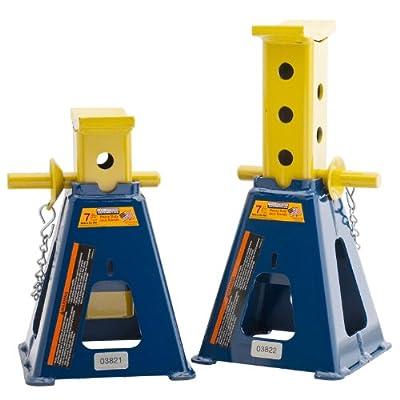 Hein-Werner HW93524A Blue Forklift Stand - 7 Ton Capacity