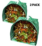Lawn and Leaf Bags (2) Reusable Garden Bags - Collapsible Yard Waste Bags and Debris Container - 53 Gallons per Bag