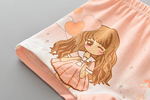 JIEYA Baby Girls 4-Pack Cotton Princess Printed Boxer Briefs Underwear