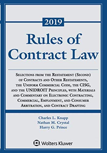 Rules of Contract Law (Supplements) (Best Legal Supplements 2019)