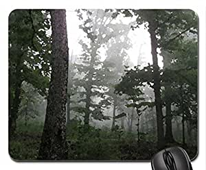 Misty Morning Mouse Pad, Mousepad (Forests Mouse Pad, Watercolor style)