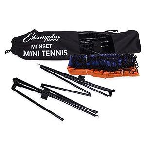 Champion Sports Portable Tennis Net: 10 Foot Kids Mini Tennis Set & Athletic Equipment