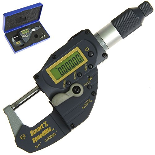 iGaging 0-1 Digital Quick Micrometer Bluetooth Connectivity Built-in Absolute Origin SpeedMic Snap Indicating Lever Action Gage IP65 Coolant Proof