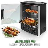 Nutrichef Upgraded Multi-Function Rotisserie Oven - Vertical Countertop Oven with Bake,  Turkey Thanksgiving, Broil Roasting Kebab Rack with Adjustable Settings, 2 Shelves 1500 Watt - PKRT97