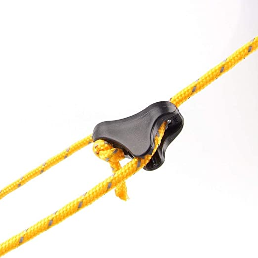 10pcs Guy Line Rope Cord Tensioners Bent Runners Tightener Outdoor Camping