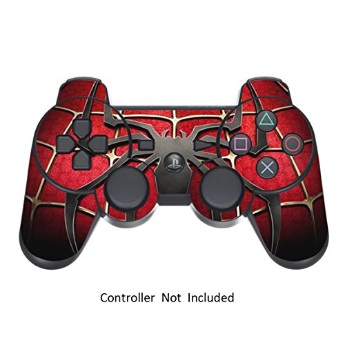 Skin Stickers for Playstation 3 Controller - Vinyl Sticker for DualShock 3 Wireless Game PS3 Controllers - Protectors Sticker Controller Decal - Widow Maker Spider [ Controller Not Included ]