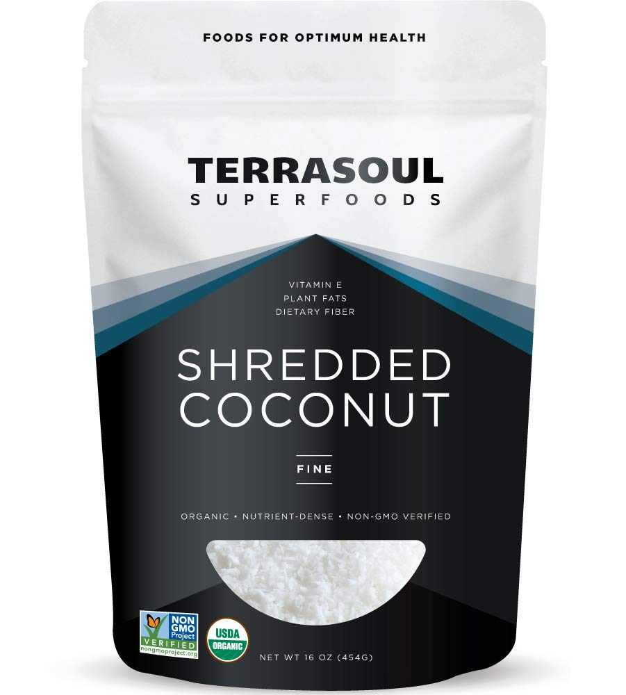 Terrasoul Superfoods Organic Coconut Flakes, 16 Oz - Finely Shredded | Macaroon Cut…