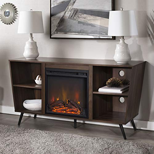 Best Buy WE Furniture AZ52FP18CRDW Fireplace Tv Stand 52