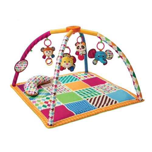Infantino Safari Fun Twist and Fold Activity Gym and Play Mat
