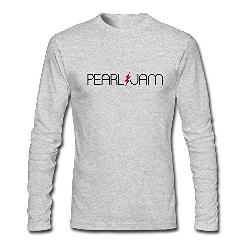 Rolling Stone Jam Pearl - Long Sleeve Male Pearl Jam Rolling Stone T Shirts Crazy Shirts Retro Crew Neck
