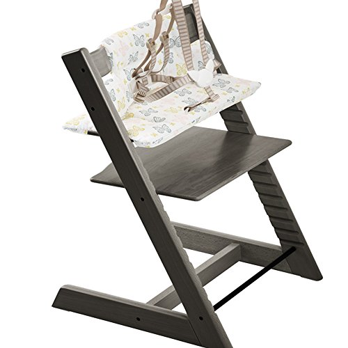 Stokke Tripp Trapp Highchair & Tripp Trapp Cushion Sweet Butterfly (Hazy Grey )