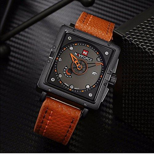 Amazon.com: Relojes de Hombre Men Quartz Para Caballeros De Moda RE0038: Watches
