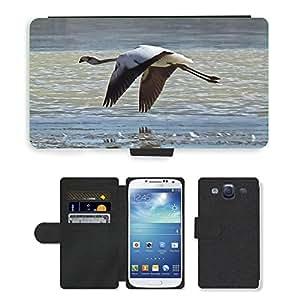 Super Stella Cell Phone Card Slot PU Leather Wallet Case // M00107035 Flamingo Altiplanic Lagoon Bird Fly // Samsung Galaxy S3 S III SIII i9300