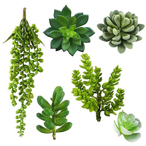 Jiajie Artificial Succulent Plants 6Packs Assorted Faux Succulent