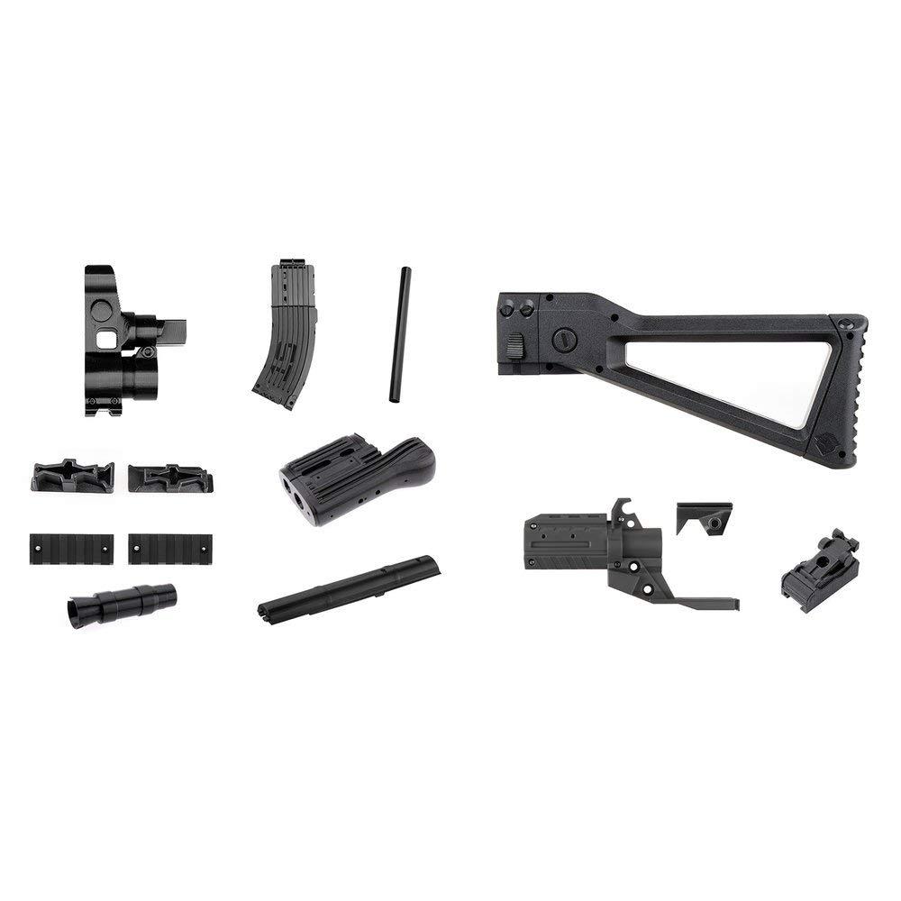 Erduo Mod F10555 Kit de imitación de Kit de imitación de Kit de imitación de Barril Delantero Kit Combo 3D para Stryfe Modificar Juguete para Piezas de Nerf Accesorios para Juguetes - Negro y Naranja