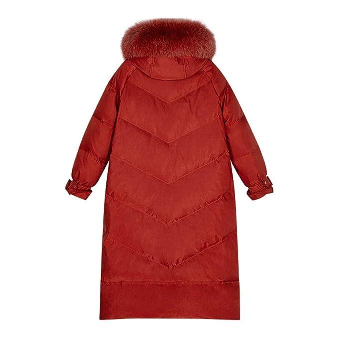 WODENINEK Mujer Invierno Moda Rojo Chaqueta De Plumas 90 Pato ...