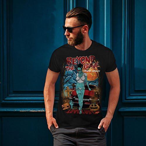 Love Graphic Design Tee Wellcoda Beyond The Grave Zombie Womens V-Neck T-shirt