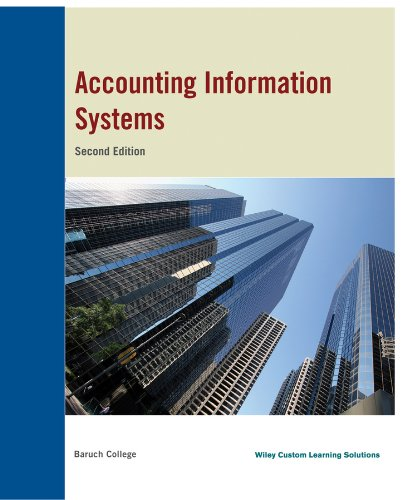 Accounting Information System, Baruch College, 2nd Edition