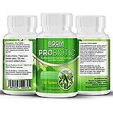 Probiotici 10 Miliardi di UFC | Integratore Probiotico N.1 per Uomo e Donna| 120 Probiotici Compresse | 4 mesi di trattamento | Aiuta a ristabilire la flora intestinale | Sicuro efficace