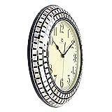 Jedfild Stylish wall clock living room ideas modern minimalist mediterranean sea shells mosaic craft Clocks