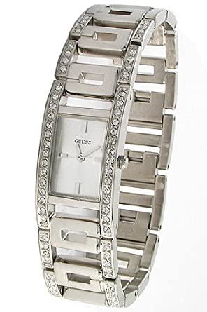6b2a591e2abe Image Unavailable. Image not available for. Color  GUESS U11545L1 Swarovski  Crystal Silver Bracelet Women s Watch