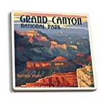 Grand Canyon National Park, Arizona - Mather Point (Set of 4 Ceramic Coasters - Cork-backed, Absorbent) offers