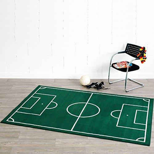 Fußballplatz Fussball Teppich Grün , Größe:160x230