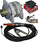 """ZENA Model MW250.40, 250 amp DC, 100% duty, engine driven welder kit (w/40' HD cables & remote controls) -- attach to small engine or vehicle -- repair a """"dead"""" motor driven welder with OK engine"""