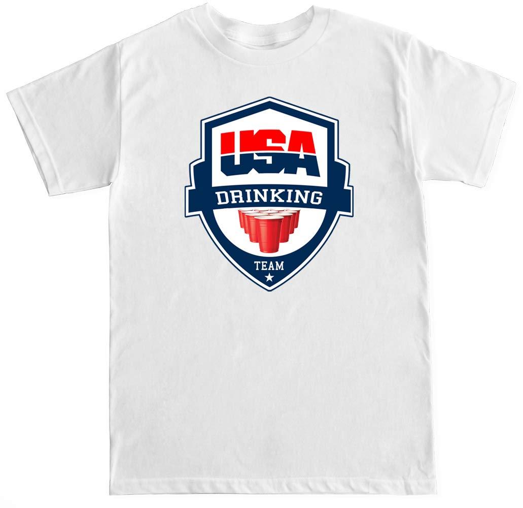 S Usa Drinking Team Badge T Shirt