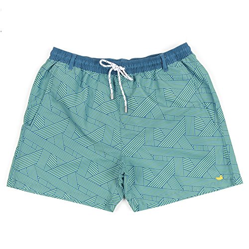 Southern Marsh Dockside Swim Trunk - Fractured Lines