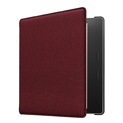 CaseBot Case for Kindle Oasis (9th Gen, 2017 Release) - Denim Burgundy