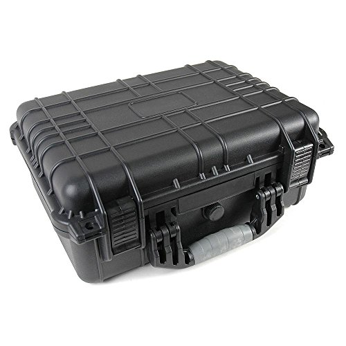 Black Tactical ABS Weatherproof Equipment Case with Customizable Foam - 18 ½