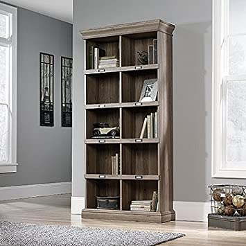 tall barrister bookcase salt oak finish