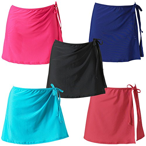 Couleur Rose Up Paro Jeune Rouge Cover Unie Casual Fashion Sarongs Cache Swimsuits Femmes t Freestyle Maillots Plage et de Mini Jupes H7UqvAtwx