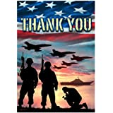 """American Military Soldiers Patriotic Flag - Thank you - Standard Size 28"""" x 40"""" Copyright and Trademark - Custom Decor Inc. Made Only in the USA"""