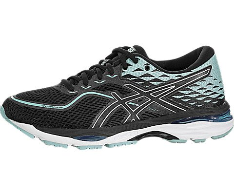 - ASICS Gel-Cumulus 19 Women's Running Shoe, Black/Porcelain Blue/White, 8 M US