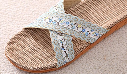 Comfortabel Dameshuis Dames Dames Spa Slippers Blauw