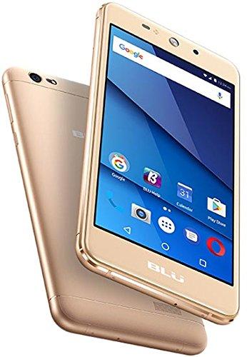 """BLU Grand XL - Unlocked Smartphone -5.5"""" Display, 8GB +1GB RAM -Gold"""