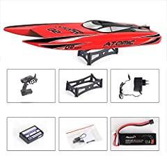 27.6 Inches S11 Remote Control High Speed Racing Boat Oversized Competition Level RC Boat Top Speed 65KM/H Brushless Motor Excellent Functions for Hobbies Player Adult Boys Age 14+ Randomly color shipped RTF/RTR Features: Size:27.6*7.5*5.3in...
