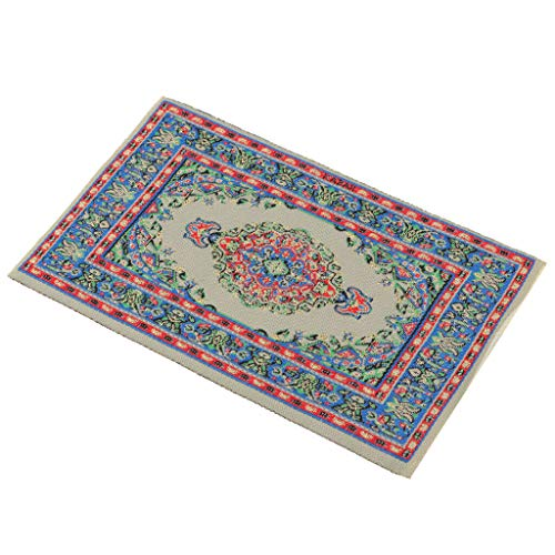NATFUR 1/12 Vintage Turkish Style Carpet Area Rug for Dolls House Room Garden Decor