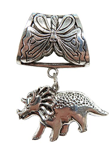 dinosuar pendant slide tube set DIY Necklace Pendant Scarf ()