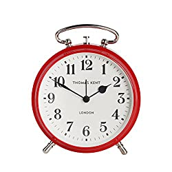 Thomas Kent New Age Vintage Puffin Metal Alarm Table Clock, 4'', Cardinal