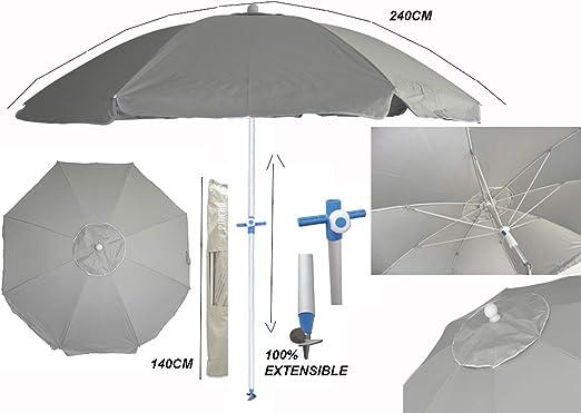 Verde Pincho Sombrilla 240 CERDE/ÑA Factor protecci/ón Solar UPF 100 Sistema Integrado